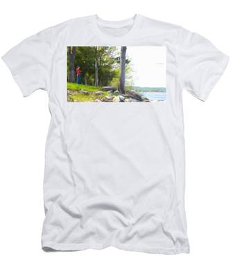 Waiting Ashore Men's T-Shirt (Athletic Fit)