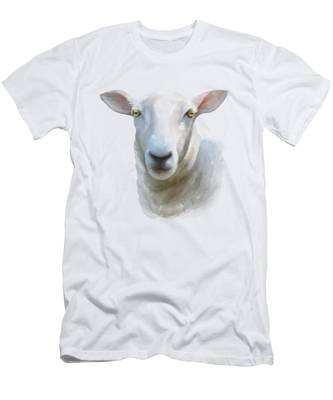 Watercolor Sheep Men's T-Shirt (Athletic Fit)