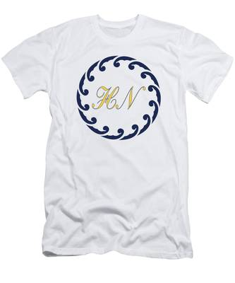 Wave Ring And Yellow Cipher Men's T-Shirt (Athletic Fit)