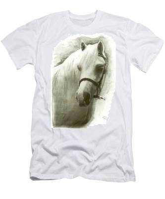 White Welsh Pony Men's T-Shirt (Athletic Fit)