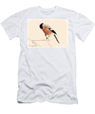 Winter Bullfinch Men's T-Shirt (Athletic Fit)