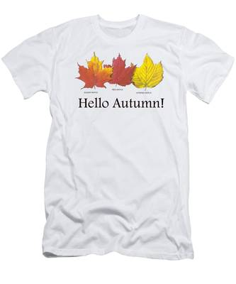 Men's T-Shirt (Athletic Fit) featuring the digital art Hello Autumn by Jeff Folger