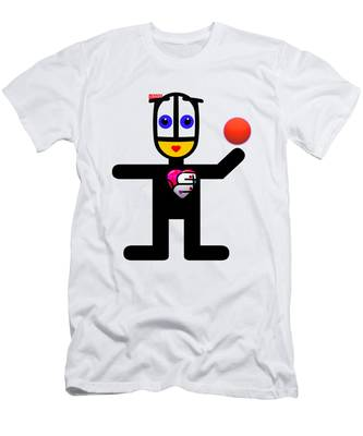 Cat With A Ball Men's T-Shirt (Athletic Fit)