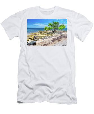 Lone Shore Tree Men's T-Shirt (Athletic Fit)