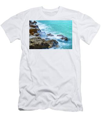 Sea Rocks In Montego Bay Men's T-Shirt (Athletic Fit)