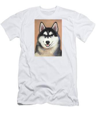 Siberian Husky Men's T-Shirt (Athletic Fit)