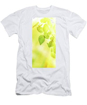 Men's T-Shirt (Athletic Fit) featuring the photograph Sunny Leaves II by Anne Leven