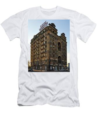 The Not So Devine Lorraine Hotel Men's T-Shirt (Athletic Fit) by Bill Cannon