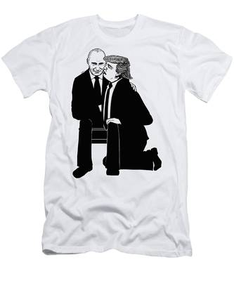 Trump On Knees Men's T-Shirt (Athletic Fit)