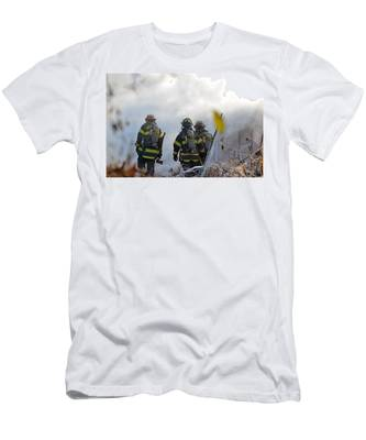 Men's T-Shirt (Athletic Fit) featuring the photograph We're Going In by Carl Young