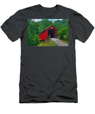 Hune Covered Bridge Men's T-Shirt (Athletic Fit)