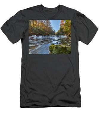 Squaw Rock - Chagrin River Falls Men's T-Shirt (Athletic Fit)