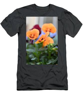 Men's T-Shirt (Athletic Fit) featuring the photograph Viola Tricolor Heartsease by Michael Goyberg