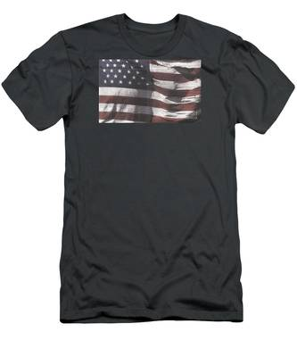 Historical Documents On Us Flag Men's T-Shirt (Athletic Fit)