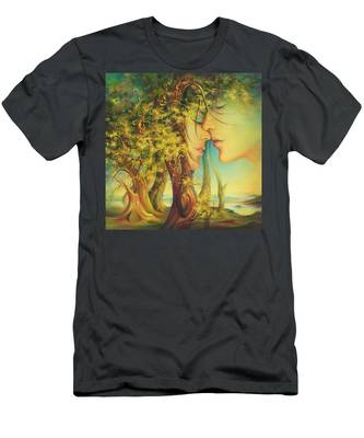 An Encounter At The Edge Of The Forest Men's T-Shirt (Athletic Fit)