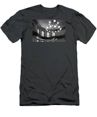 Antique Chandelier In Old Courtroom Men's T-Shirt (Athletic Fit)