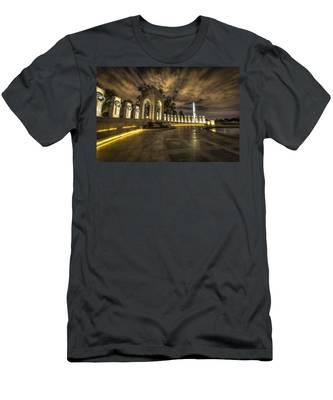 Atlantic Side Of The World War II Memorial Men's T-Shirt (Athletic Fit)
