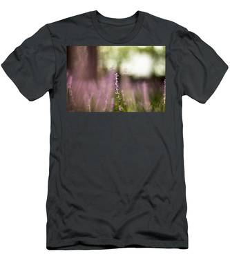 Bokeh With Purple Wildflower Men's T-Shirt (Athletic Fit)