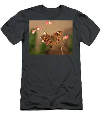 Butterfly On Pink Men's T-Shirt (Athletic Fit)