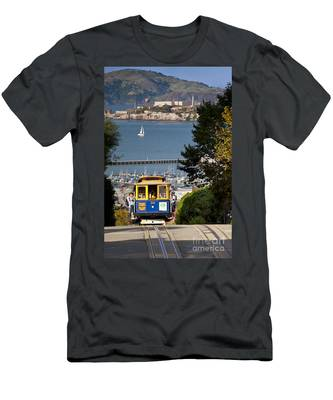 San Francisco Cable Car On Hyde Street Print By Brian Jannsen Photography Men's T-Shirt (Athletic Fit)