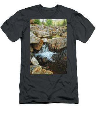 Cascading Downward Men's T-Shirt (Athletic Fit)