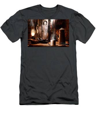 Coffee At The Cabin Men's T-Shirt (Athletic Fit)