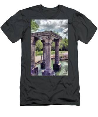 Columns In The Water Men's T-Shirt (Athletic Fit)
