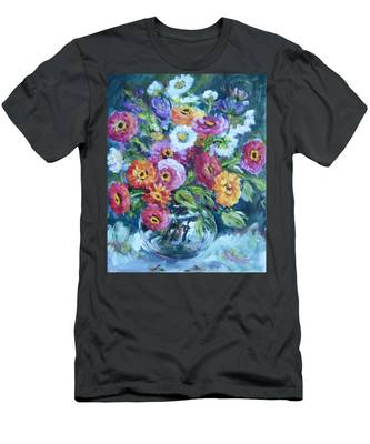 Floral Explosion No. 2 Men's T-Shirt (Athletic Fit)