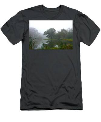 Foggy Morning At The Willows Men's T-Shirt (Athletic Fit)