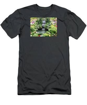 Garden Waterfall Men's T-Shirt (Athletic Fit)