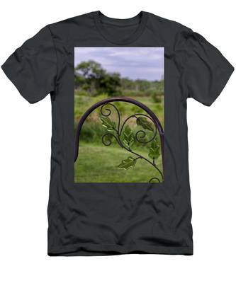 Glass Leaves Men's T-Shirt (Athletic Fit)