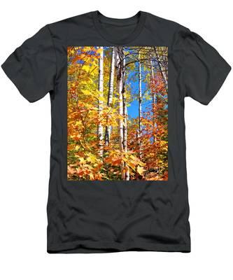 Gold Autumn Men's T-Shirt (Athletic Fit)
