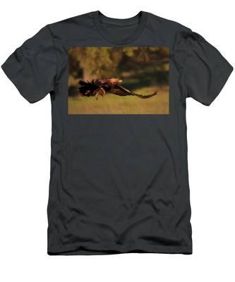 Golden Eagle On The Hunt Men's T-Shirt (Athletic Fit)