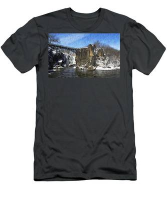 Great Falls Painted Men's T-Shirt (Athletic Fit)