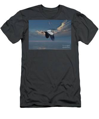 Heron Night Flight  Men's T-Shirt (Athletic Fit)