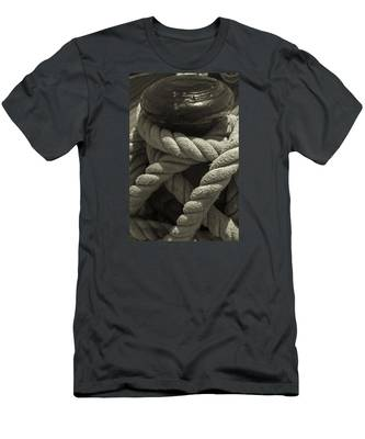 Hold On Black And White Sepia Men's T-Shirt (Athletic Fit)