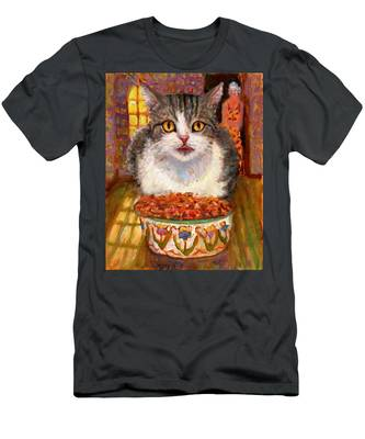 Hungry Cat Men's T-Shirt (Athletic Fit)
