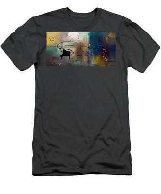 Jazz Night Men's T-Shirt (Athletic Fit)