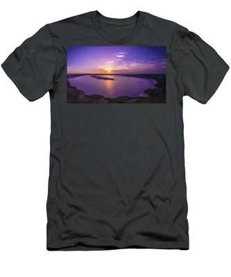 Lake Travis Sunset Men's T-Shirt (Athletic Fit)