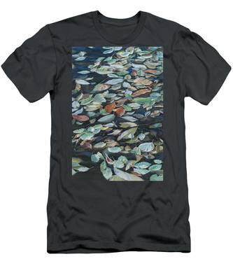Leaves On Pond Men's T-Shirt (Athletic Fit)