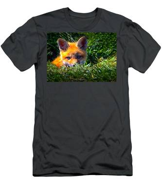 Little Red Fox Men's T-Shirt (Athletic Fit)