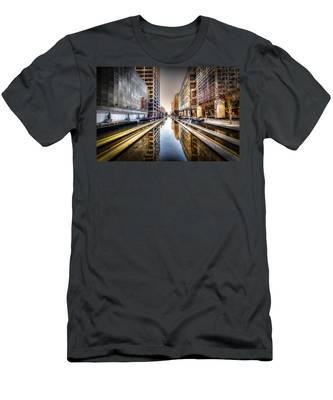 Main Street Square Men's T-Shirt (Athletic Fit)
