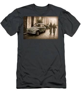 Nuns With Vintage Car Men's T-Shirt (Athletic Fit)