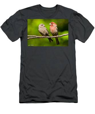 Pair Of House Finches In A Tree Men's T-Shirt (Athletic Fit)