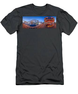 Panorama Giant Dipper Goes 360 Round And Round Men's T-Shirt (Athletic Fit)