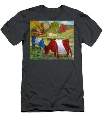 Primary Cows Men's T-Shirt (Athletic Fit)