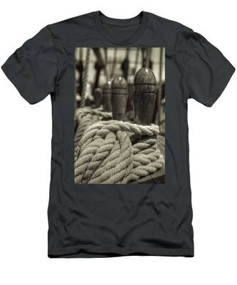 Ready For Work Black And White Sepia Men's T-Shirt (Athletic Fit)