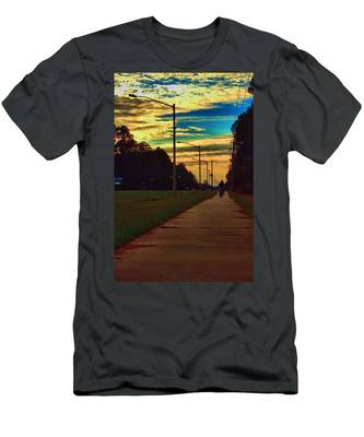 Riding Into The Sunset Men's T-Shirt (Athletic Fit)