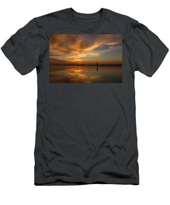 Men's T-Shirt (Athletic Fit) featuring the photograph Seaside Reflections by Christy Pooschke