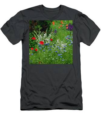 Squarely Spring Floral Garden Men's T-Shirt (Athletic Fit)